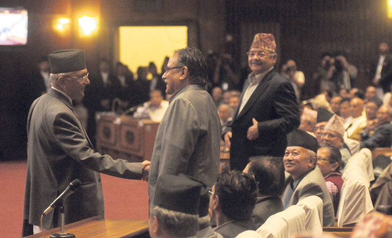 Oli bows out, way open for Dahal government