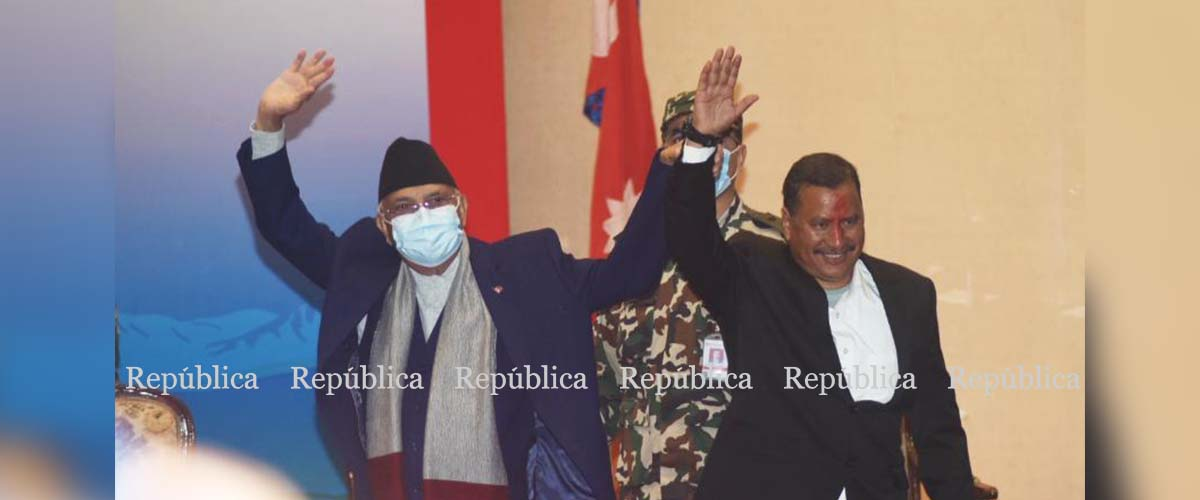 Nepal has entered a peaceful era following deal with Biplab-led CPN: PM Oli