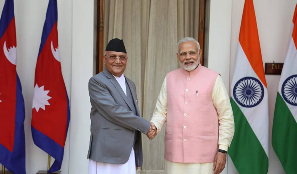 PM Oli holds telephonic conversation with Indian counterpart Modi ...