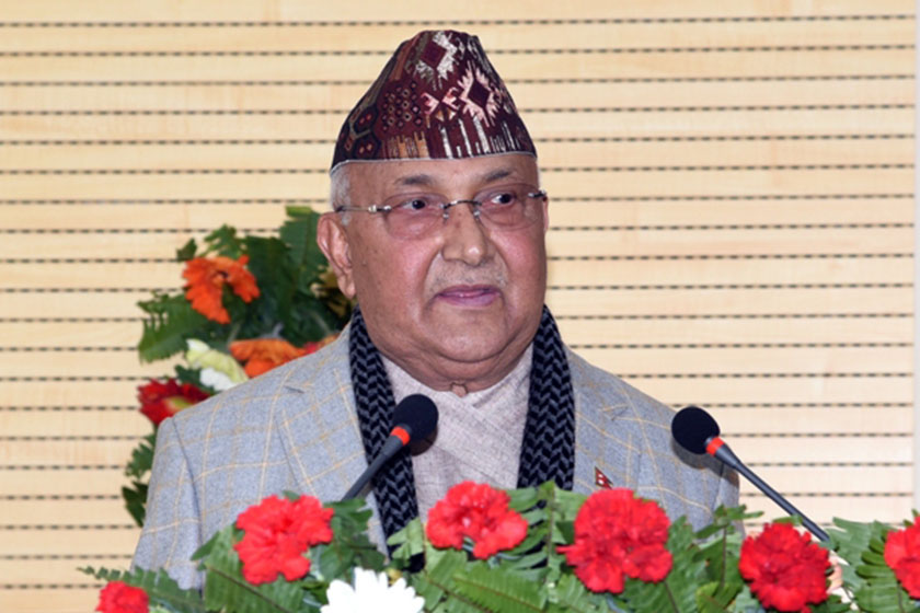 Economy growing by zero percent still satisfactory compared to negative growth in advanced economies, says PM Oli
