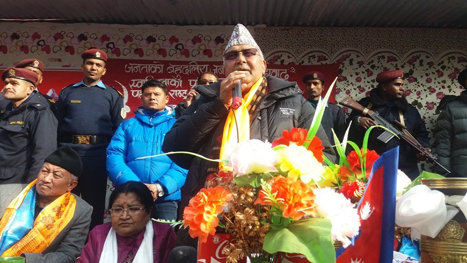 Railway line connecting Nepal and China very soon: Oli
