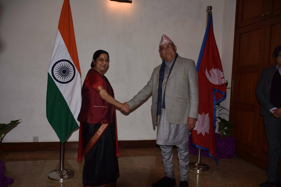 Swaraj conveys Modi's wish to work closely with CPN UML-led government