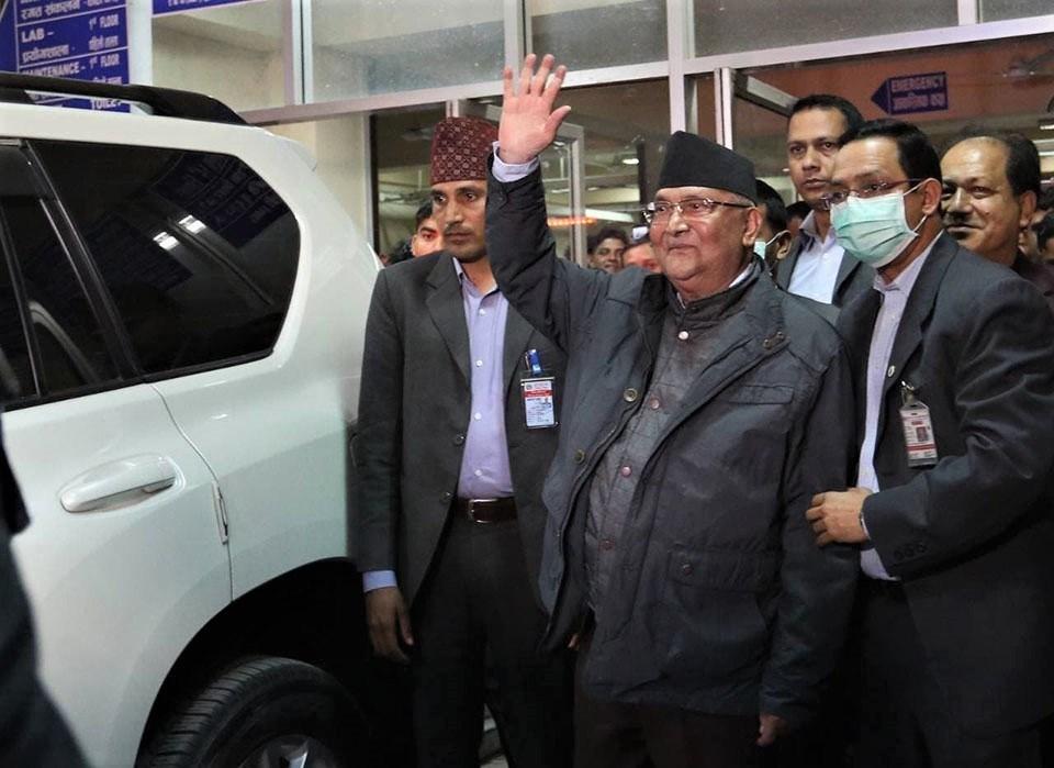 PM Oli's health check-up underway at Grande Hospital