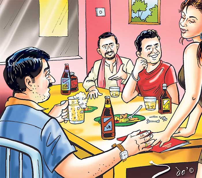 Affliction of booze