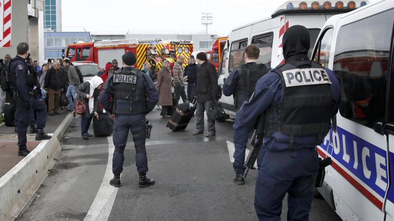 Man shot dead after seizing soldier's gun at Paris Orly airport