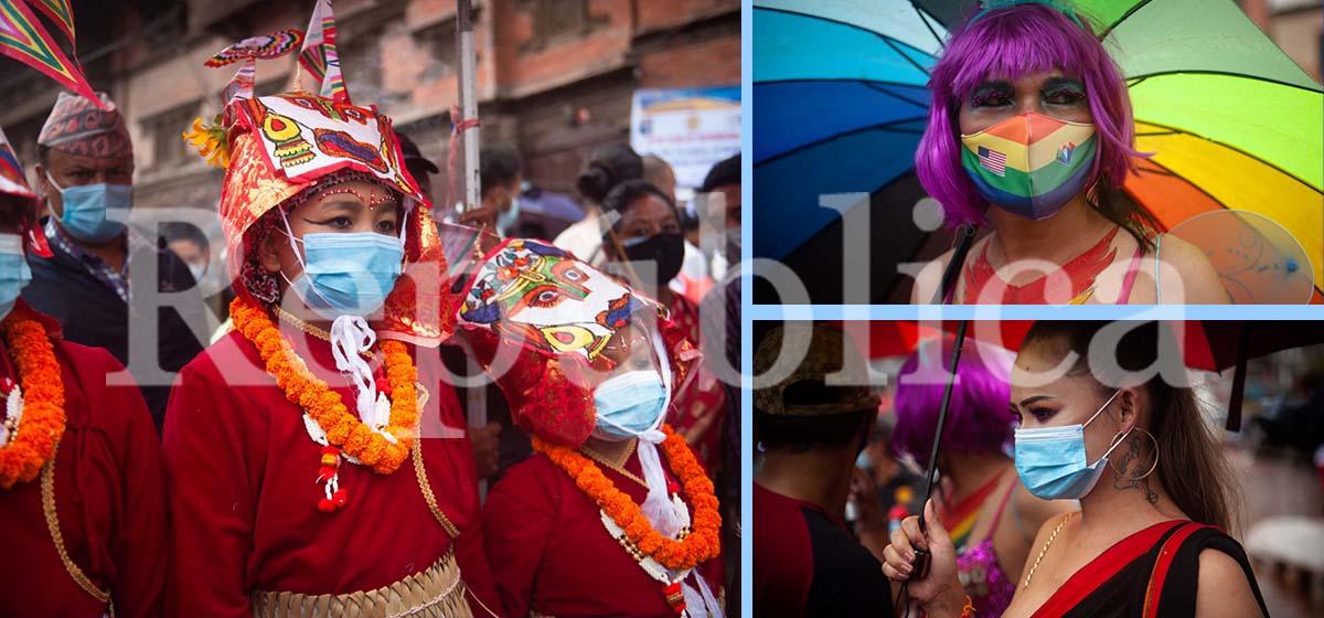 IN PICS: Gaijatra festival marked amid COVID-19 pandemic