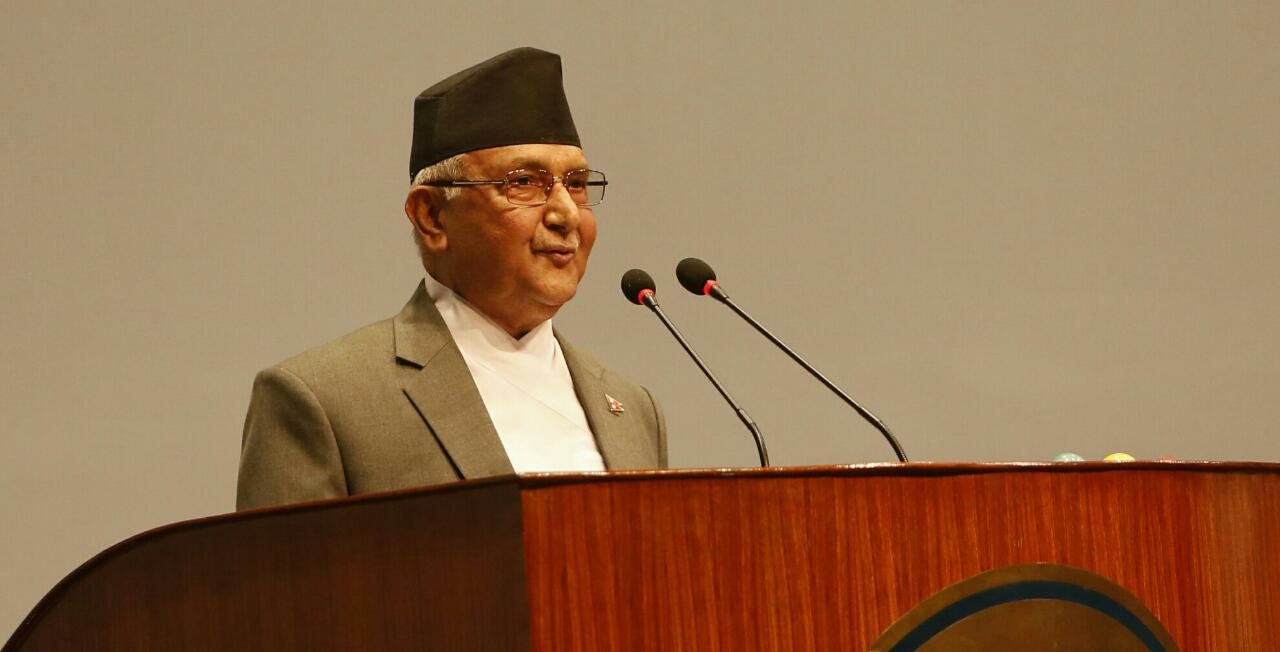 PM Oli questions intention of no-confidence motion