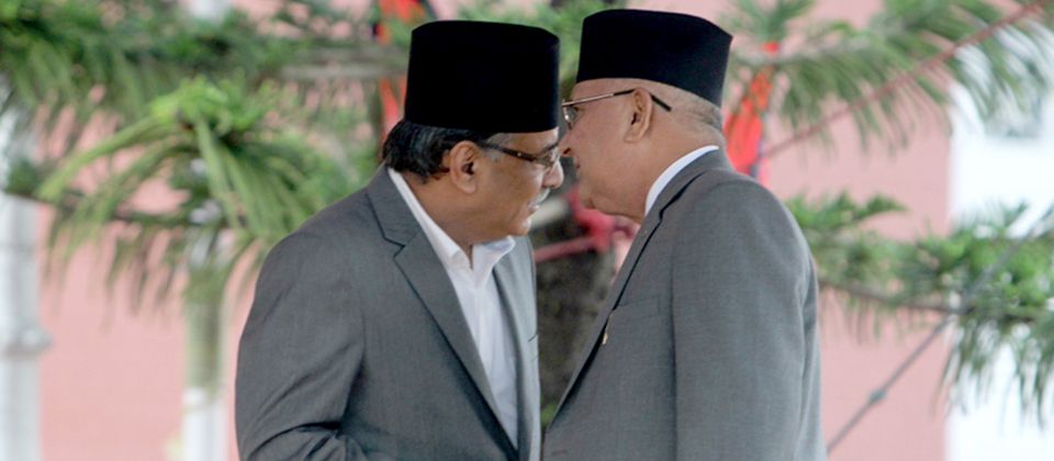 Oli, Dahal agree on 18 ministries in federal Nepal