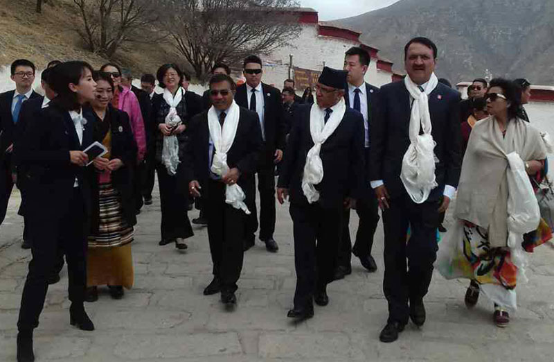PM Dahal reaches Lhasa