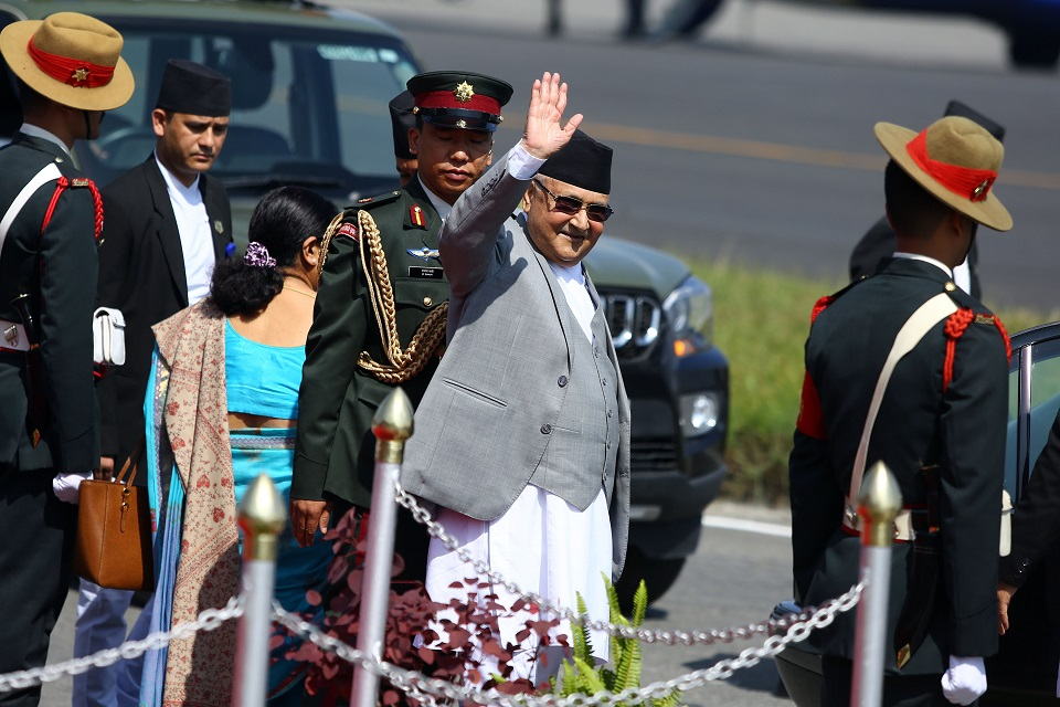 PM Oli returns home from Azerbaijan