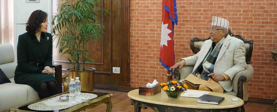 Amid growing intra-party conflict within ruling NCP, Chinese Ambassador meets PM Oli