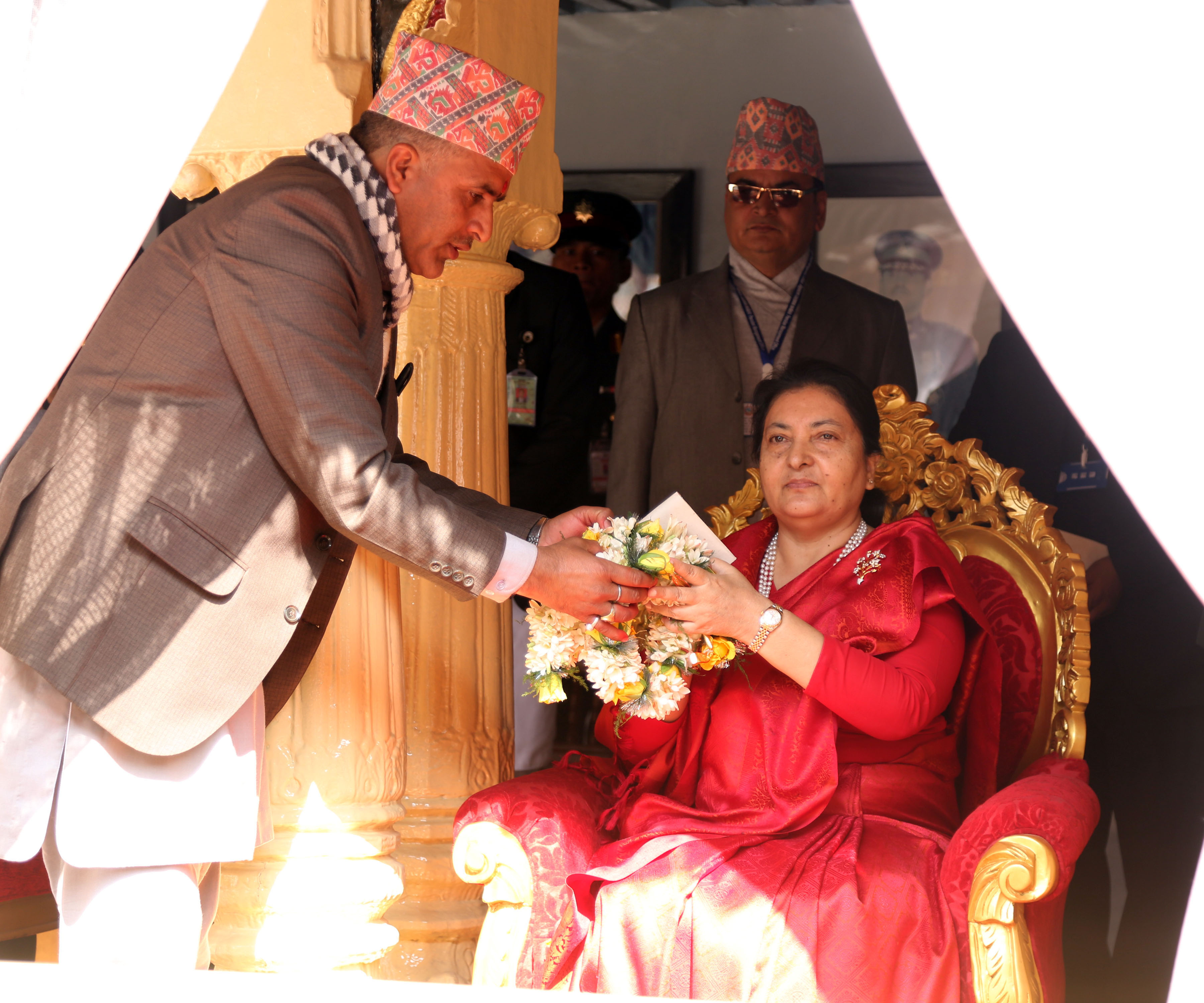 Prez Bhandari attends Basanta Shrawan ritual