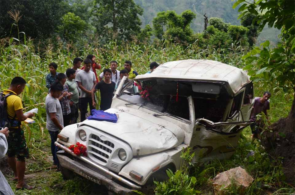 13 injured, 2 seriously in Panchthar jeep mishap