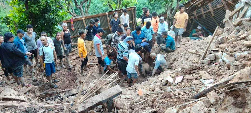Landslide leaves one dead, three injured