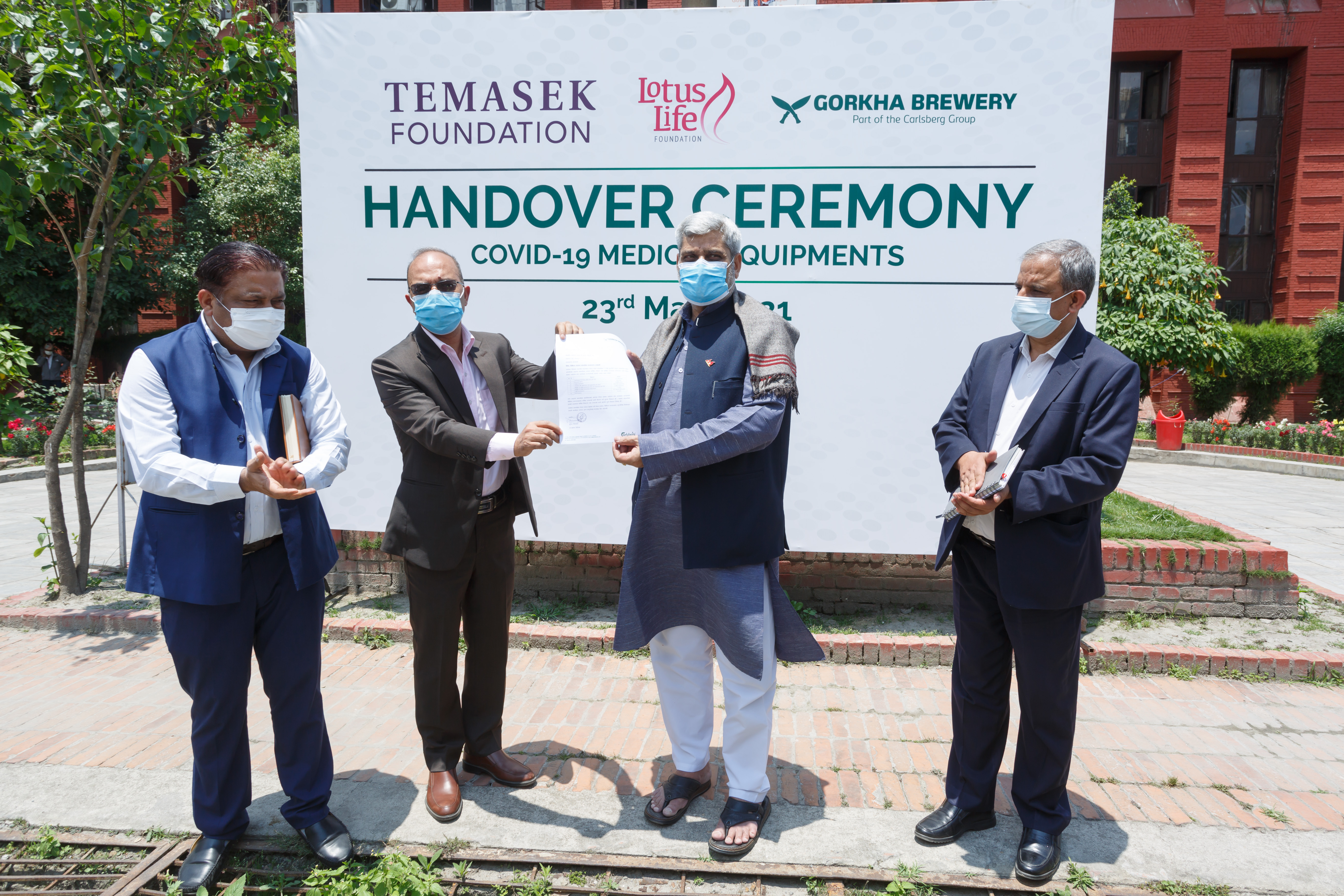 13 tons of COVID-19 assistance from Singapore handed over to Health Ministry