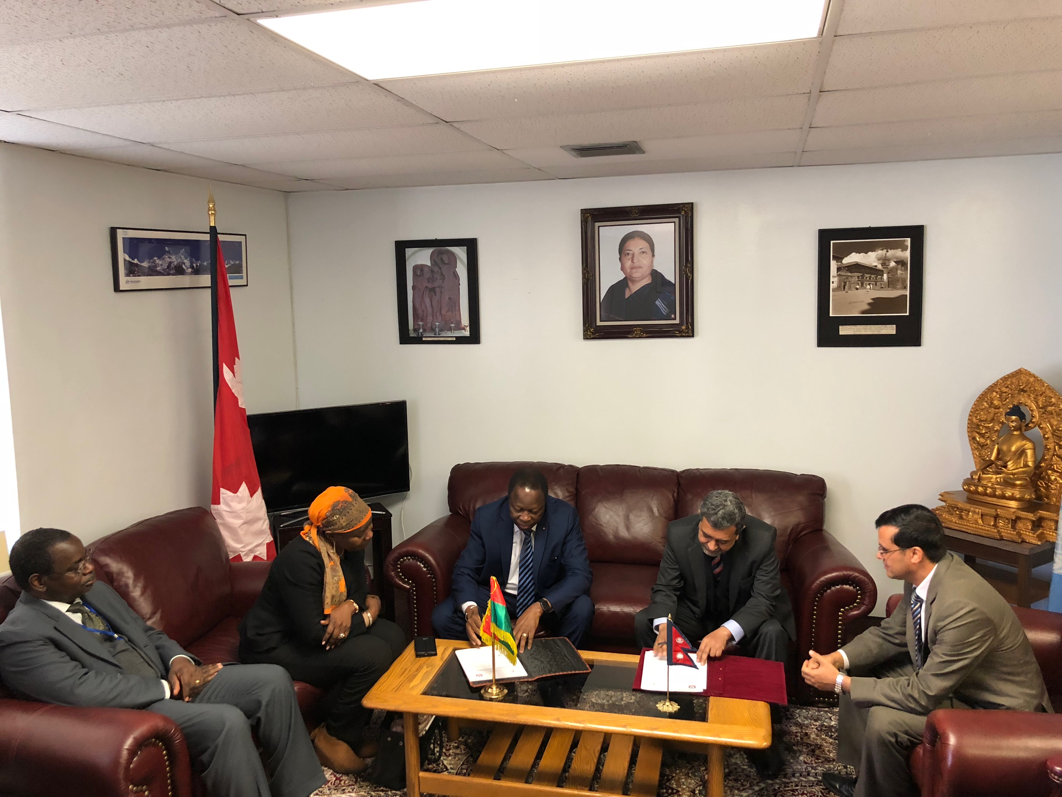​Nepal and Burkina Faso established formal bilateral diplomatic relations