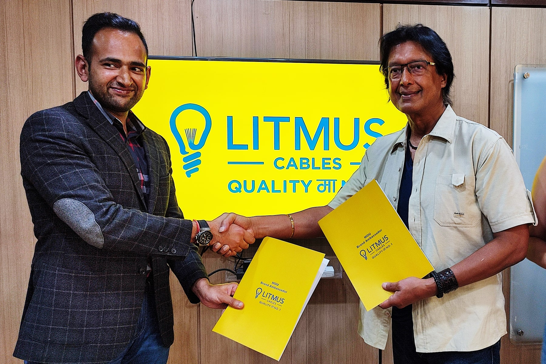 Litmus cables appoints Superstar Rajesh Hamal and his spouse Madhu as its brand ambassadors