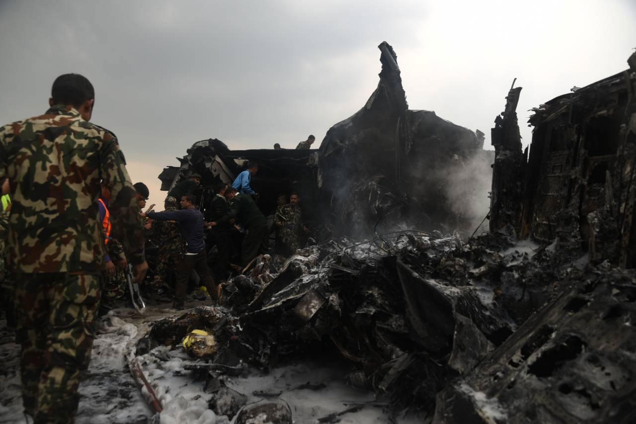 Bangladeshi Minister arriving in KTM to probe US-Bangla air crash