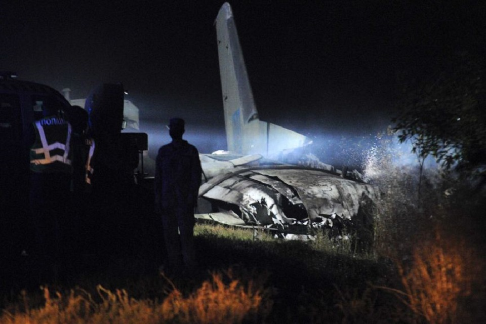 Military plane carrying air force cadets crashes in Ukraine, killing 22