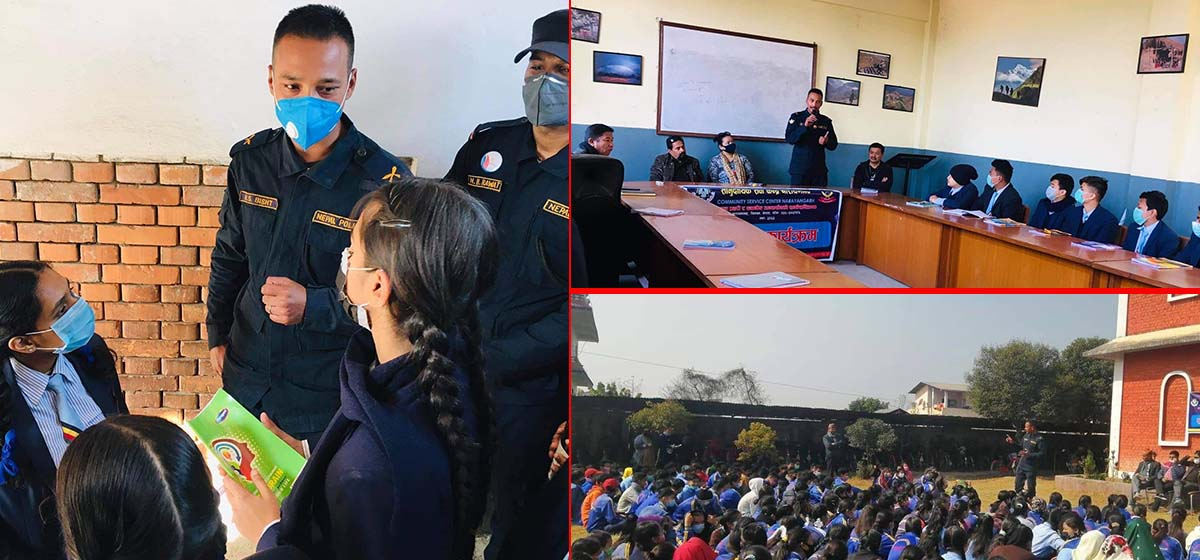 DPO, Chitwan in collaboration with Community Service Center organizes awareness classes to fight against sexual abuse, cyber crimes