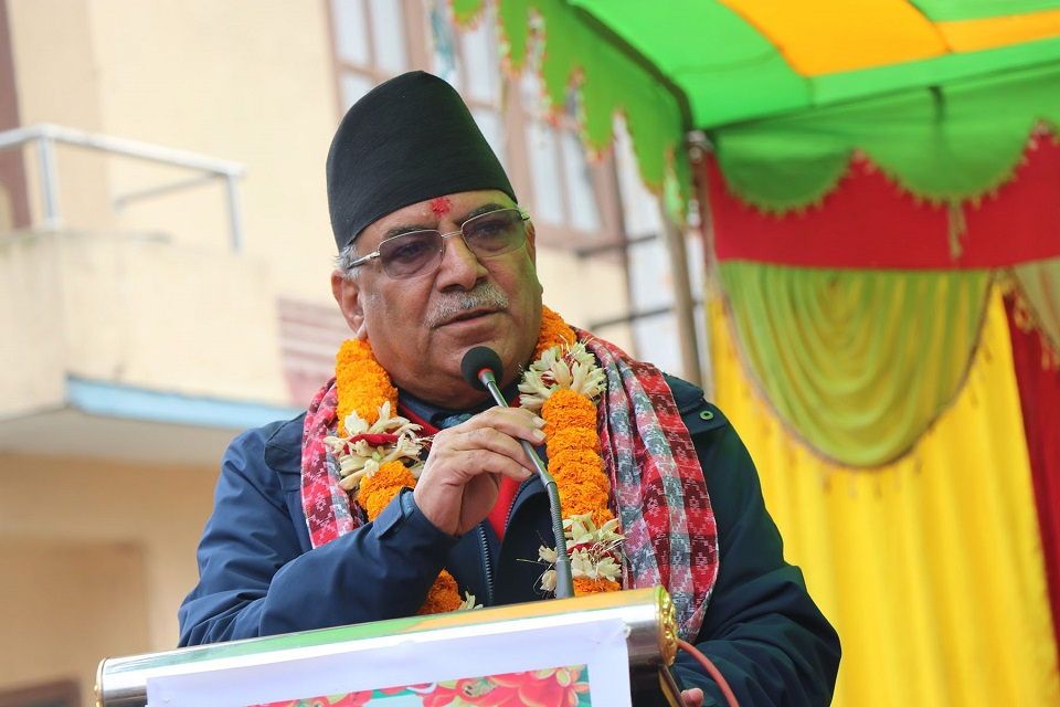 NCP Chair Dahal asks party cadres not to get perturbed
