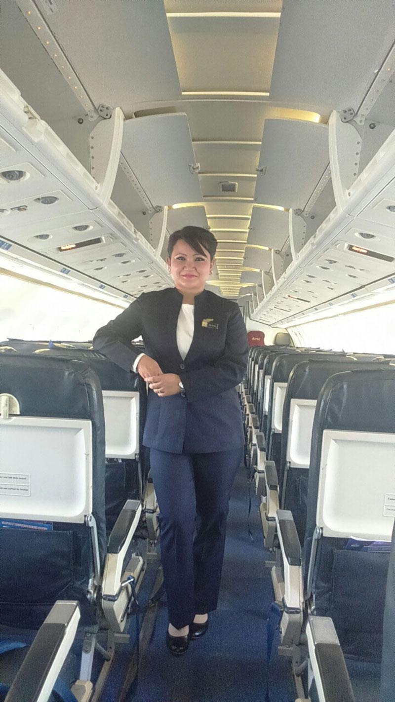 Air hostess is a serious job!