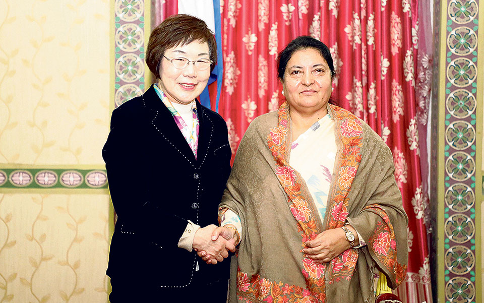 Koica prez pays courtesy call on Prez Bhandari, discusses possible areas of cooperation