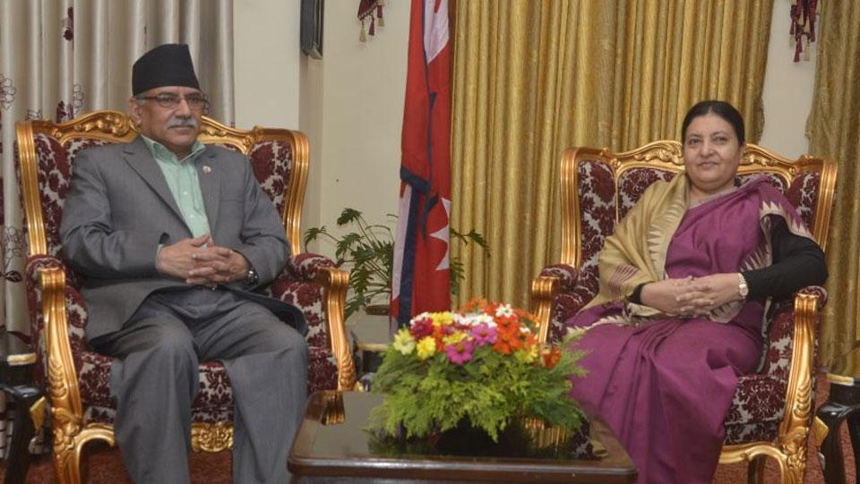 Dahal calls on President