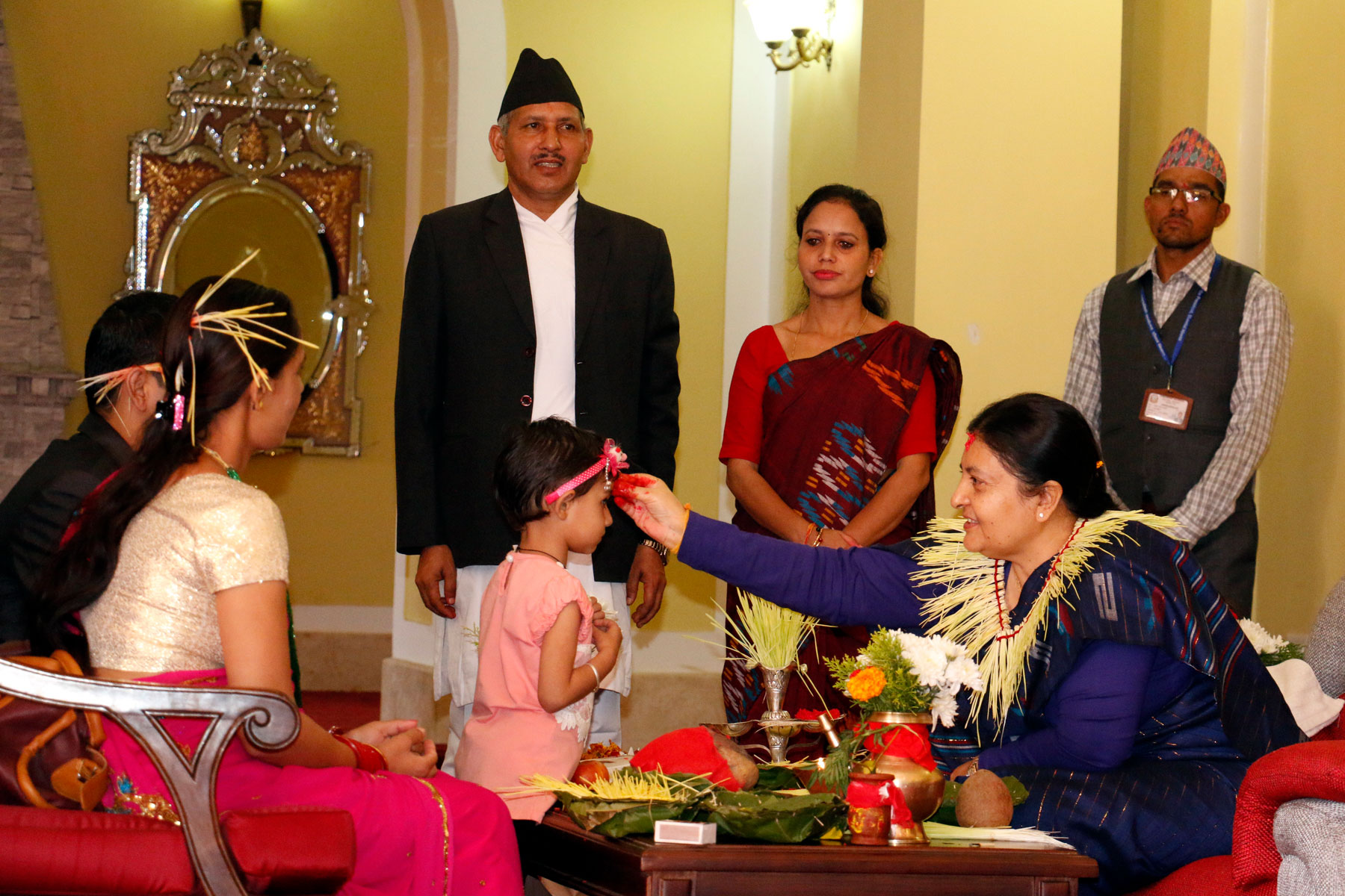 President starts offering tika to general public