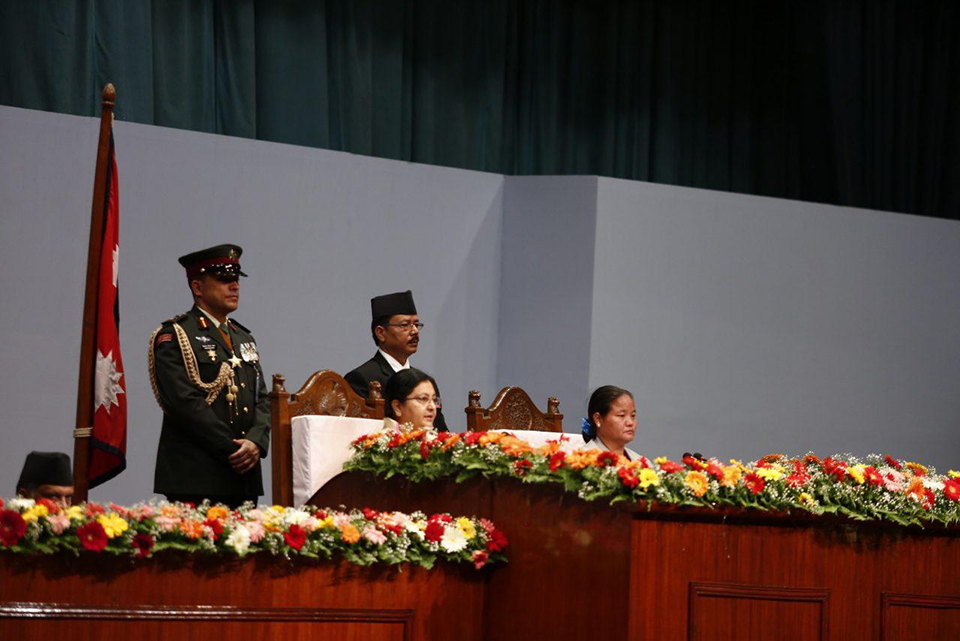President Bhandari unveils policies and programs at parliament (With text)