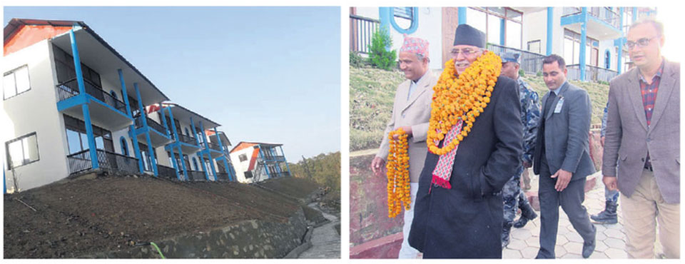 Former prime ministerPushpa Kamal Dahal inaugurates Rs 120-million resort in Sindhuli