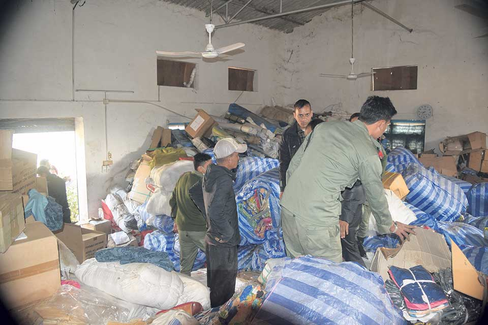 Relief materials rot in storehouse while quake victims battle with cold and hunger