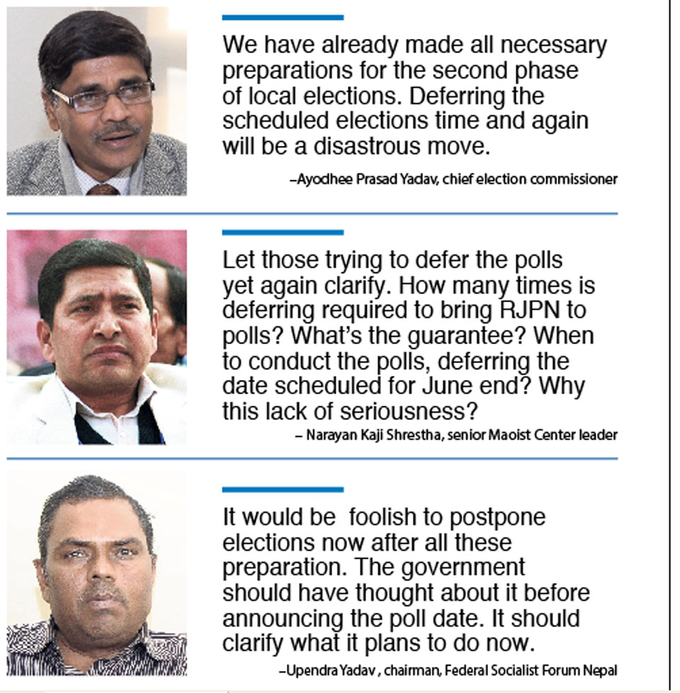 Ruling parties propose deferring polls yet again