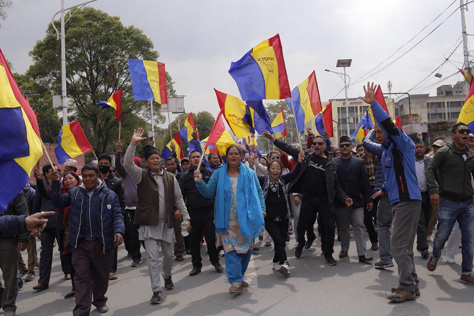 RPP hits streets against removal of Hindu State, clashes with police