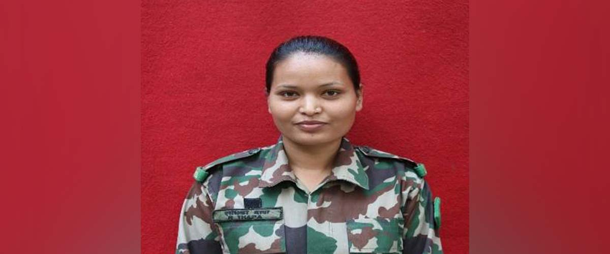Radhika Thapa becomes first female soldier to complete Counter Insurgency and Jungle Warfare Training (With a list of first females in Nepal Army)