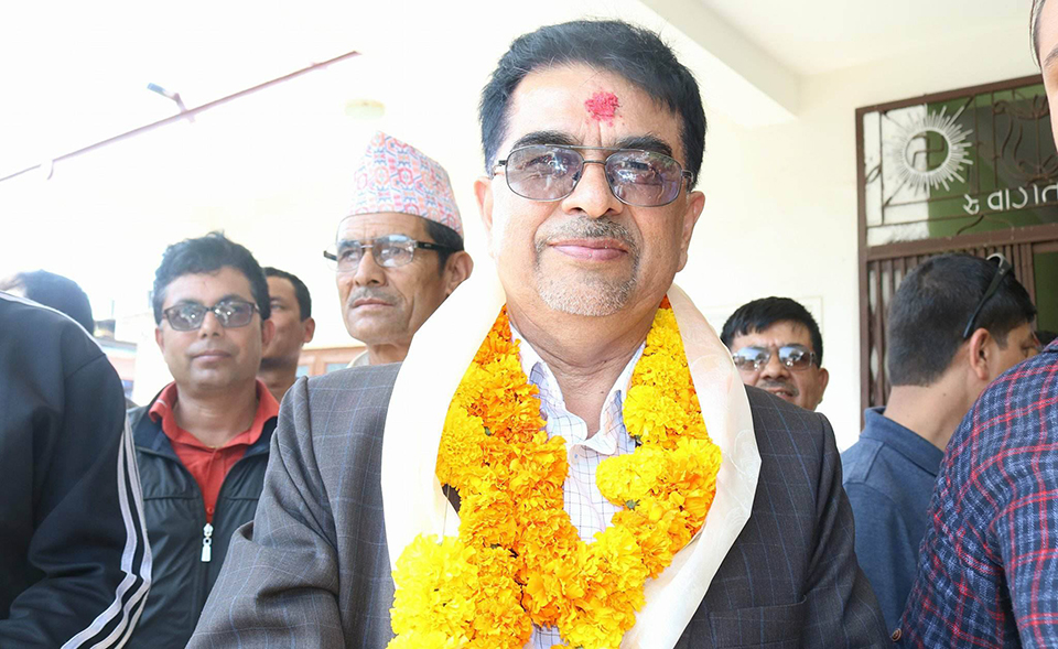 Rajendra Pandey wins with double number of vote in Dhading-2 (Ka)