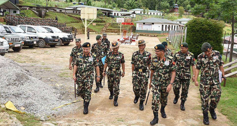 CoAS  Chhetri  inspects NA battalions
