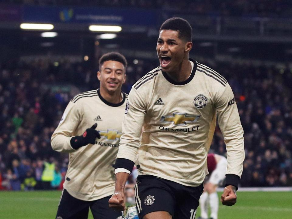 Man United up to fifth with 2-0 win at Burnley