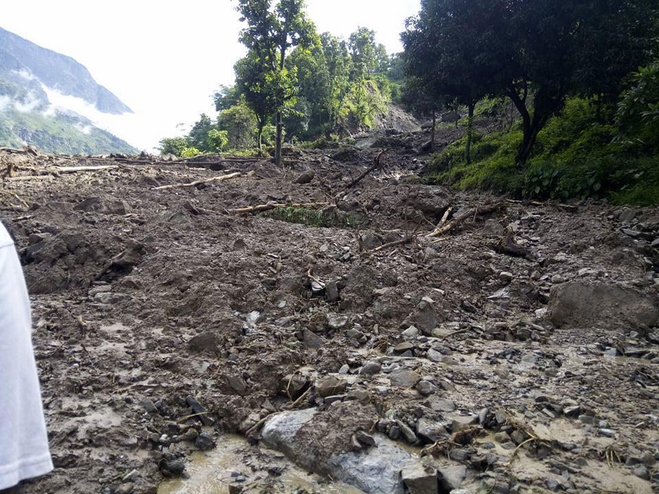 3 die, 1 missing as landslide buries 14 houses in Rasuwa