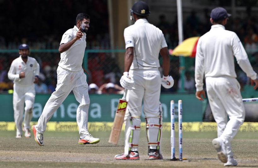 Ashwin, Jadeja help India win landmark 500th Test