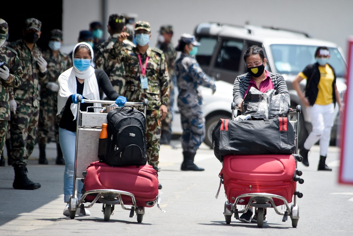 490 Nepali nationals stranded due to COVID-19 pandemic return home on Friday