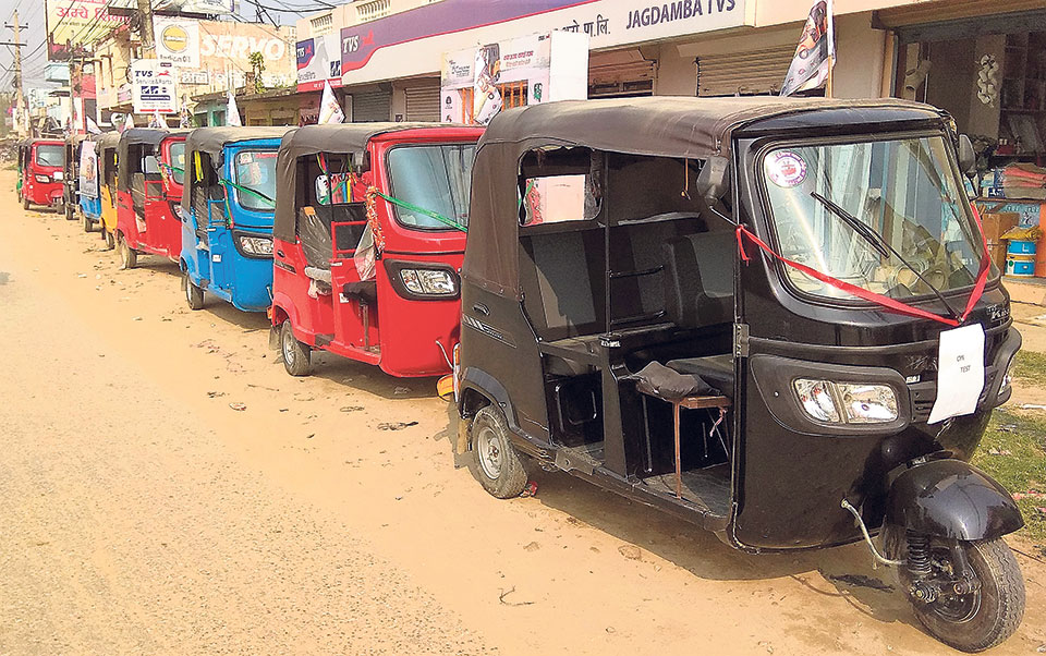 Import of auto-rickshaw via Birgunj up by 74 percent