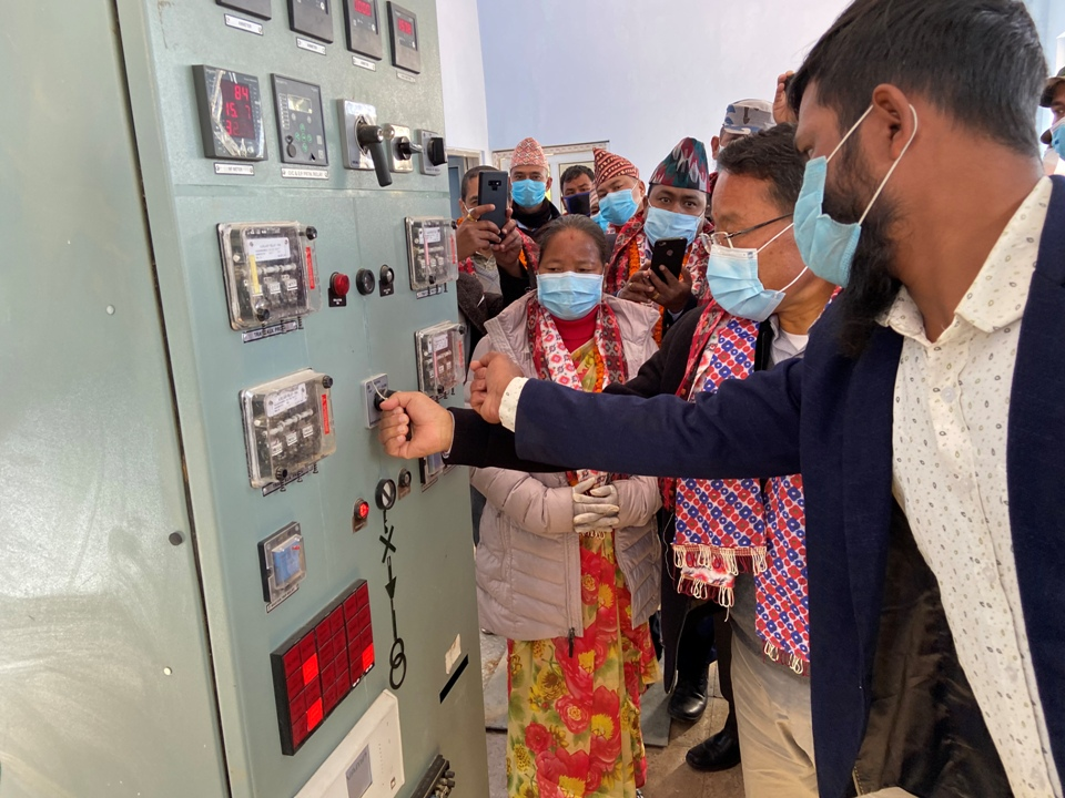 NEA's 33/11 kV substation at Rolpa charged