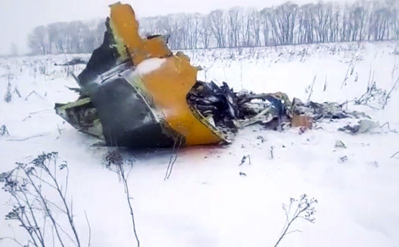 Russian airline crashes moment after take-off, killing 71