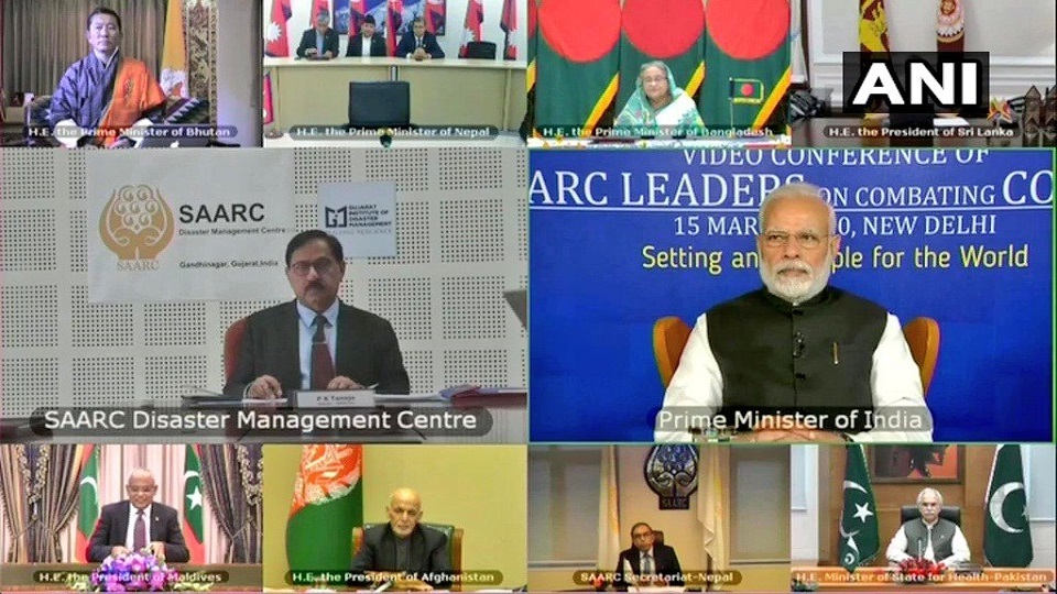 Video conference among SAARC leaders held to chalk out common strategy against COVID-19