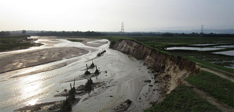 Monsoon batters Saptari, inundates over 125 houses