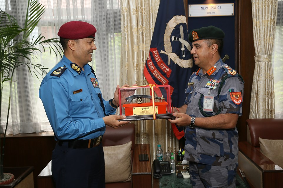 APF chief visits Nepal Police HQ to congratulate Chhetri