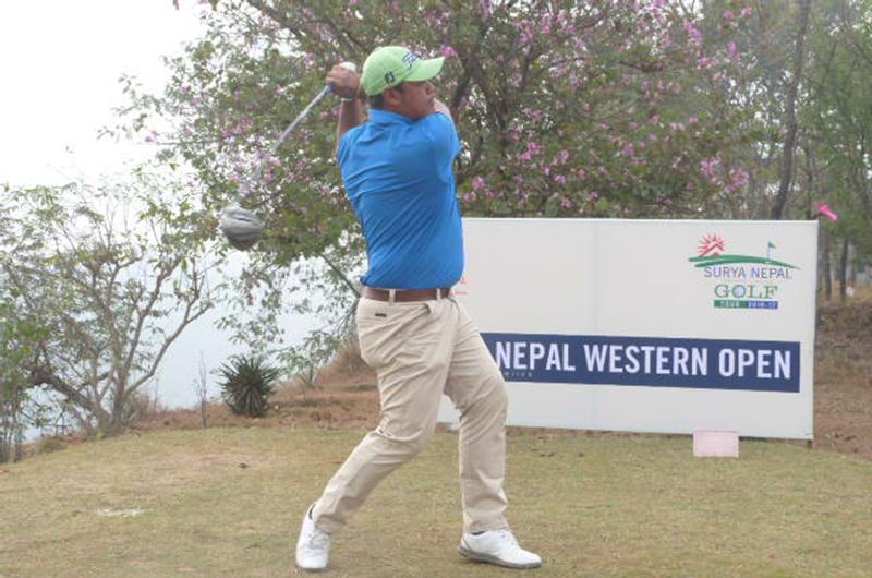 Shrestha takes four-stroke lead in Western Open golf