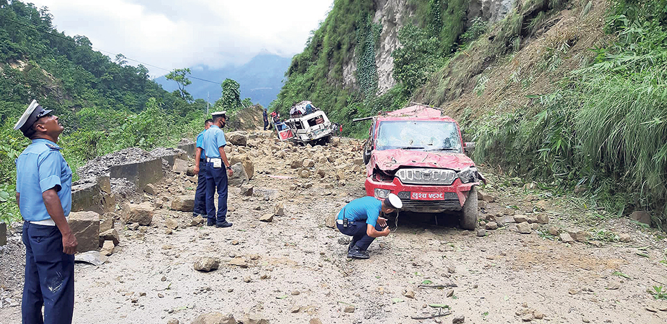 Six including four of a family killed in Rolpa landslide