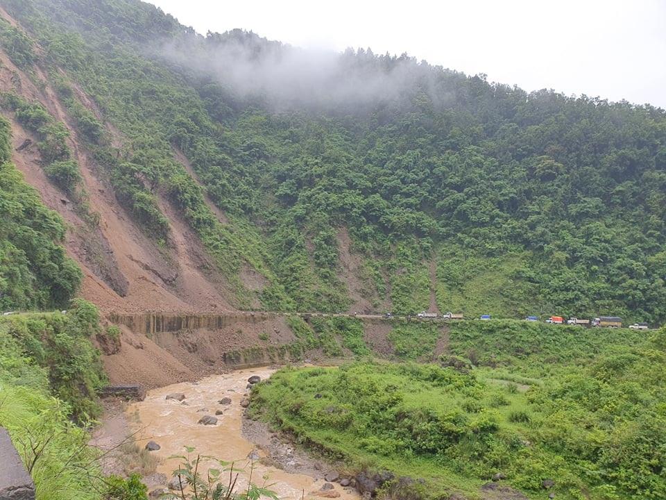 Siddhartha Highway blocked following landslides